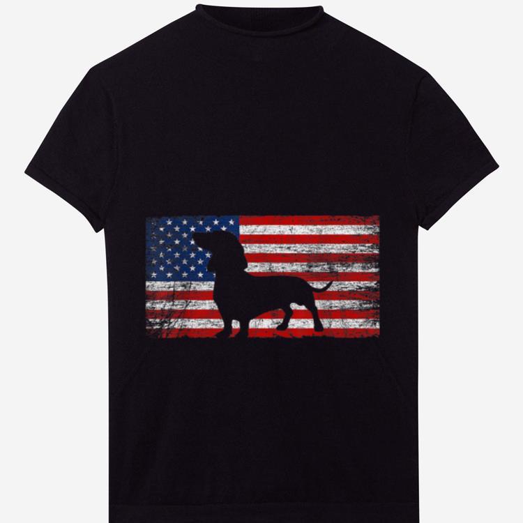 Original American Flag Dachshund Dog Lover 4th Of July Gift Shirt