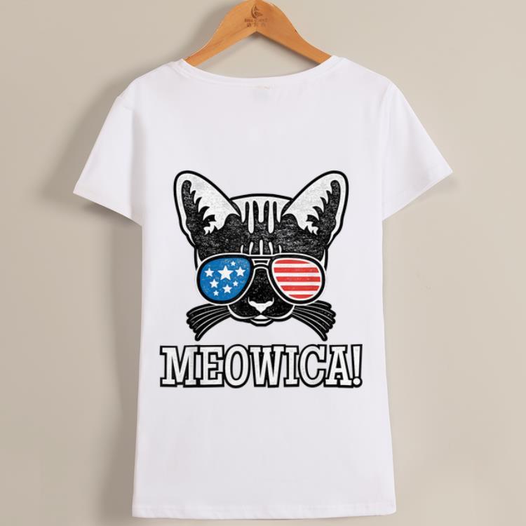 Original American Flag Patriotic Cat Gift Meowica shirt