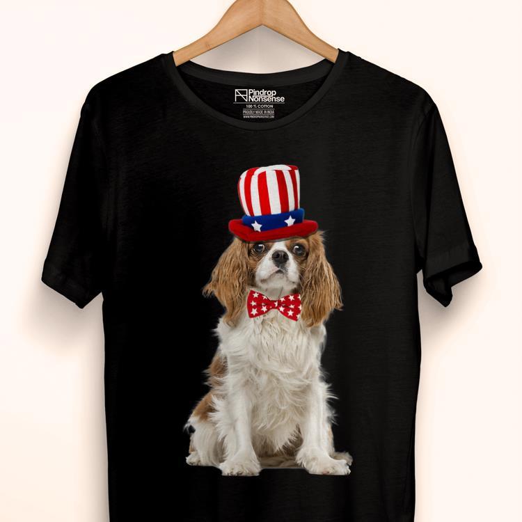 Original Cavalier King Charles July 4th American Flag Premium Shirt