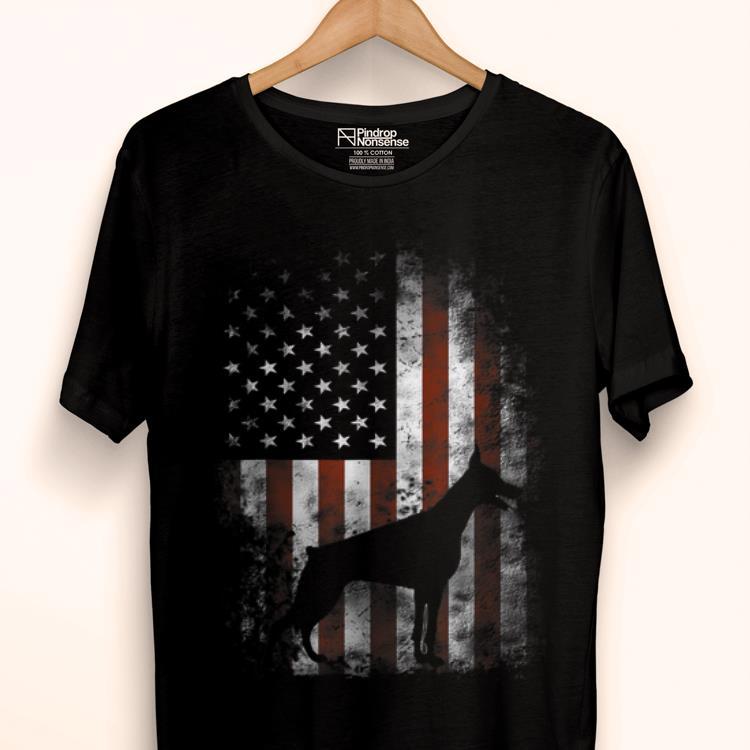 Original Doberman Pinscher American Flag Patriotic Gifts Shirt