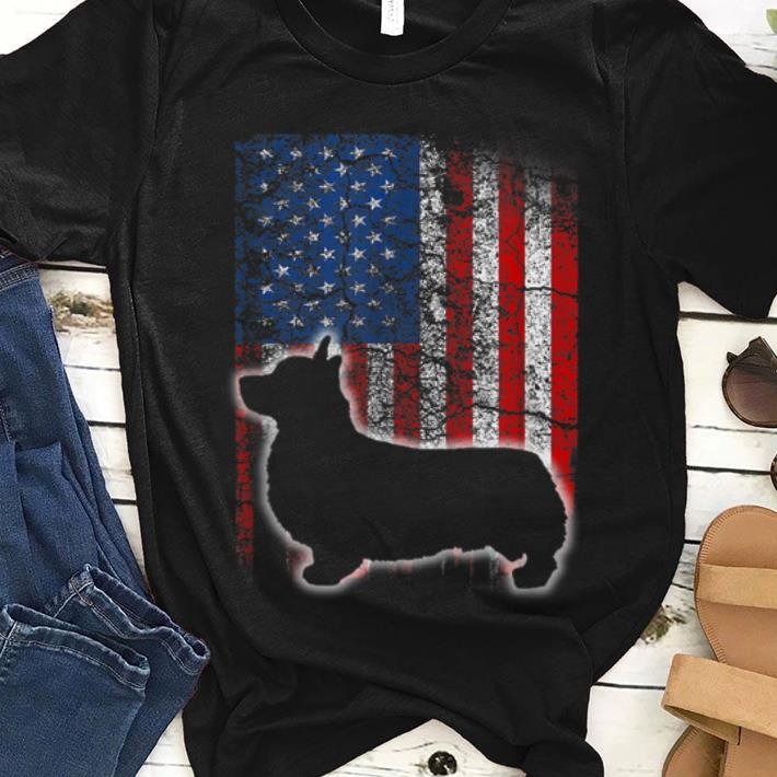 Original Fun American Flag Cardigan Welsh Corgi Dog Lovers Shirt
