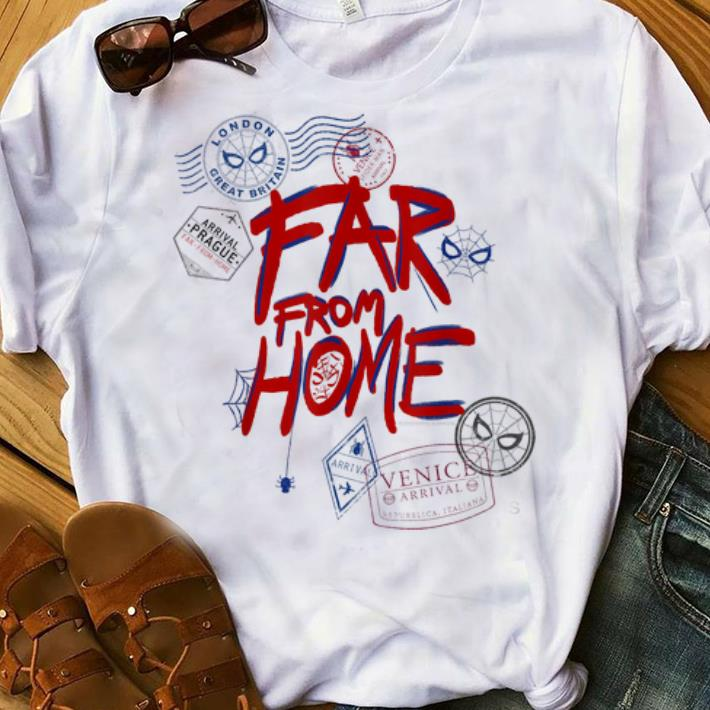 Original Marvel Spider-Man Far From Home Travel Stamps Summer Holiday Summer Vacation shirt