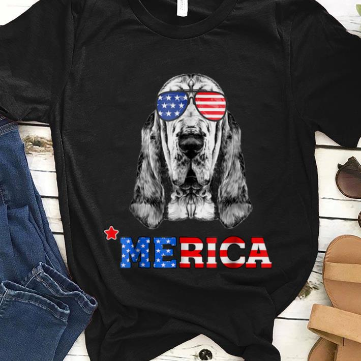 Original Merica Funny Bloodhound 4th Of July Gifts Tees Shirt