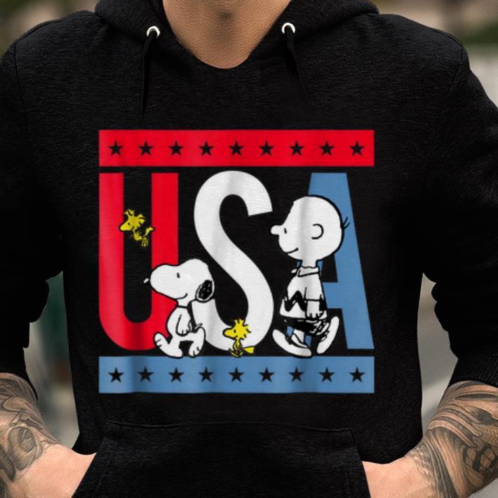 Original Peanuts Snoopy Americana Red White And Blue USA shirt