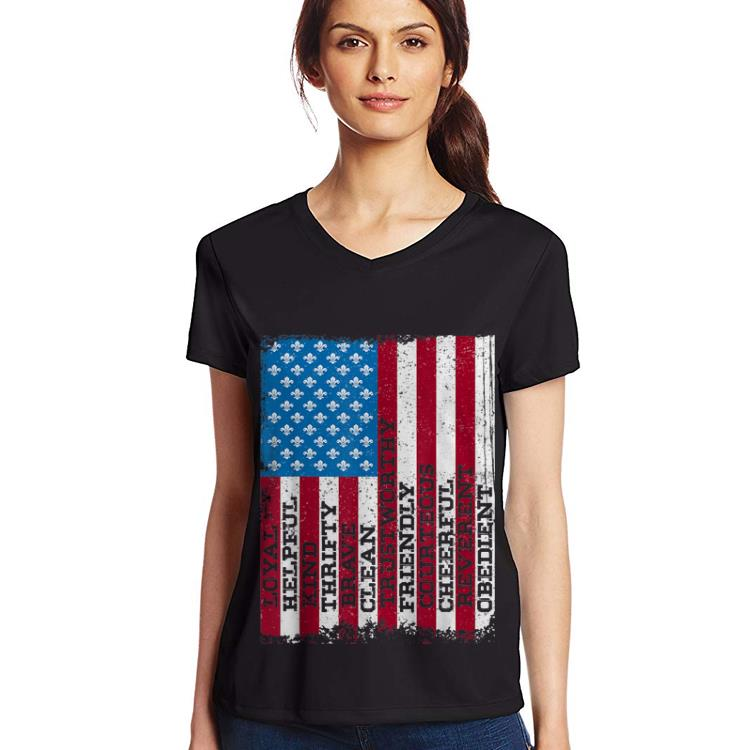Original Scout Law Patriotic Scouting American Flag 4th Of july shirt