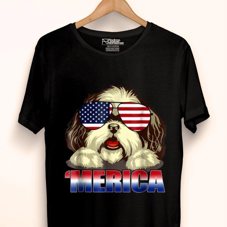 Original Shih Tzu Merica 4th Of July Patriot For Women Shirt