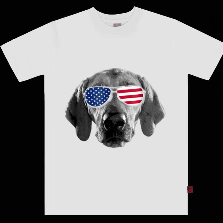 Patriotic Redbone Coonhound Dog Merica 4th Of July shirt
