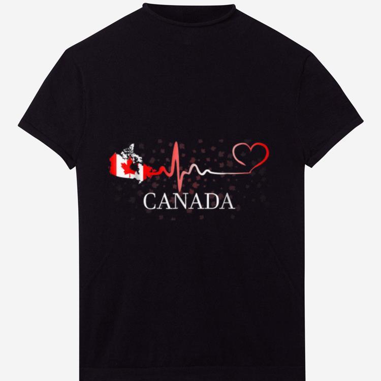 Premium Canada Day Canada Map Heartbeat shirt 1 - Premium Canada Day Canada Map Heartbeat shirt