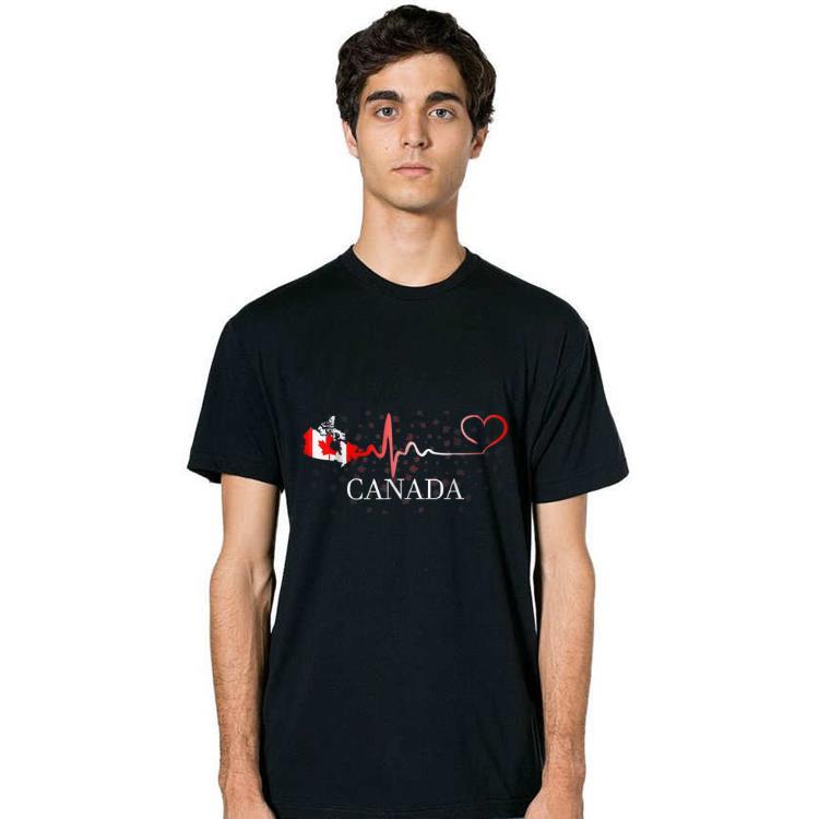 Premium Canada Day Canada Map Heartbeat shirt