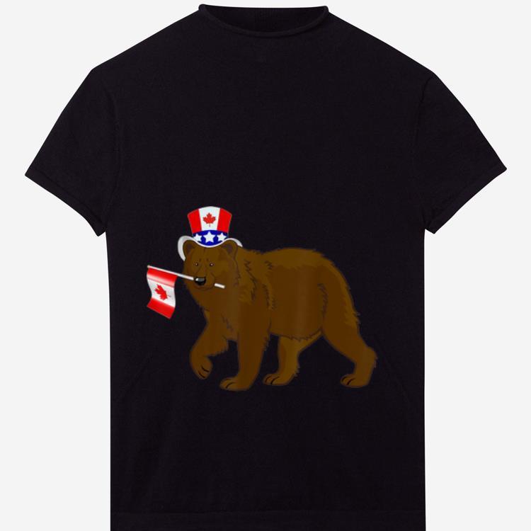 Premium Canada - Maple Leaf Bear Canadian Flags Shirt