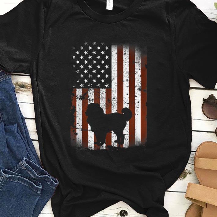 Premium Caucasian Shepherd American Flag Dog 4th Of July Shirt