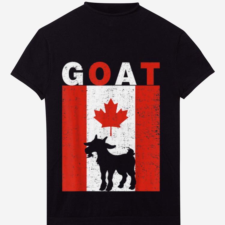 Premium Goat Goat Canadian Flag 1st July Shirt