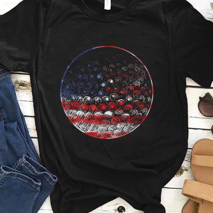 Premium Golf American Flag Usa Pride Sports Shirt