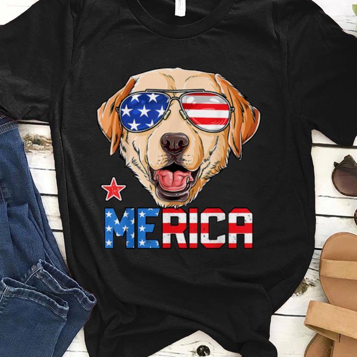 Premium Labrador 4th Of July Merica Usa American Flag Shirt