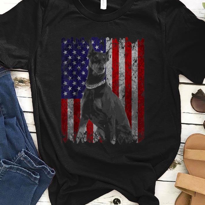Premium Patriotic Doberman Pinscher American Flag Dog Gifts Shirt 1 - Premium Patriotic Doberman Pinscher American Flag Dog Gifts Shirt