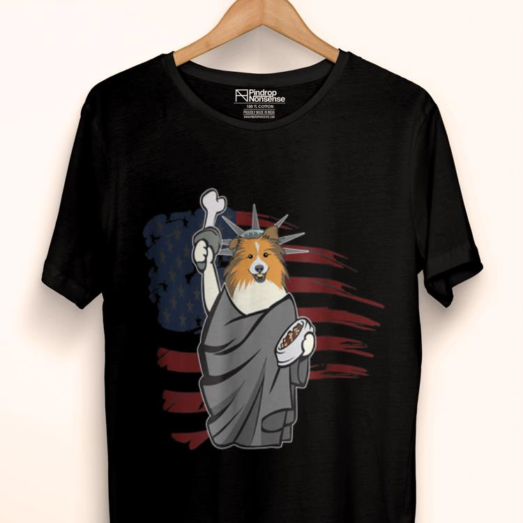 Premium Patriotic Sheltie 4th July Independence Day Liberty Shirt