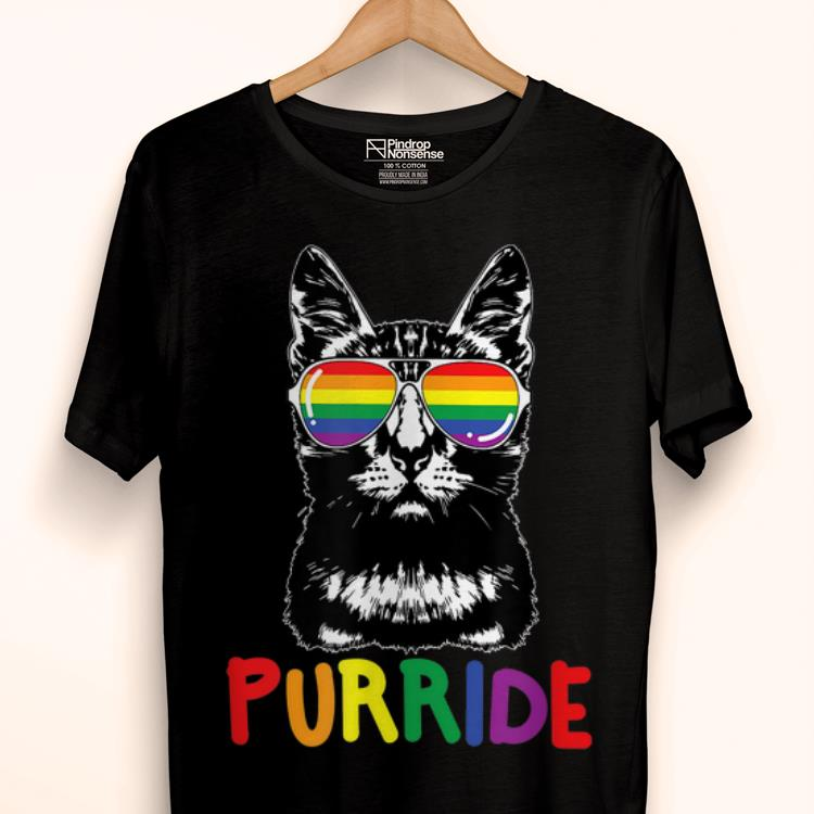 Premium Purride LGBT Gay Pride Cat Lover Kitty Shirt
