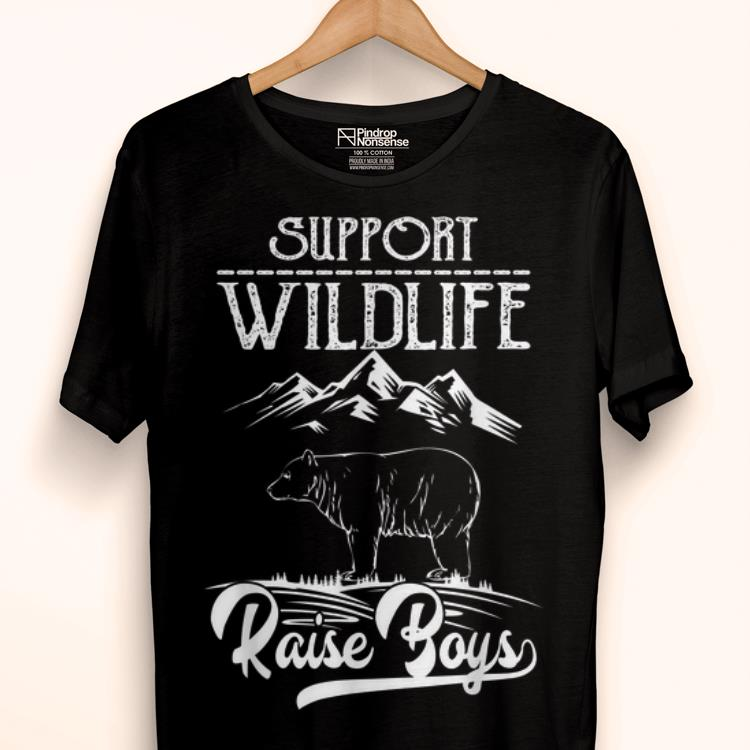 Premium Support Wildlife Raise Boys Gifts For Mom Fathers Day Shirt