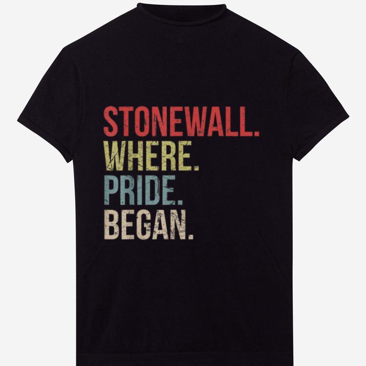 Premium Vintage Stonewall Where Pride Began LGBTQ Rights Gay Pride shirt