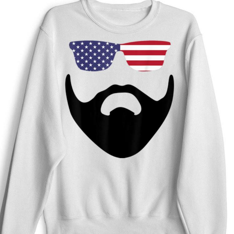 Pretty American Sunglasses Flag And Beard USA 4th Of July shirt