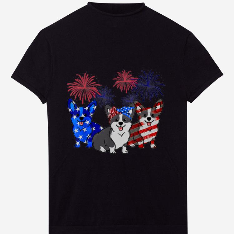 Pretty Corgi Flag Colors, Corgi Dog American Flag Happy Independence Day shirt