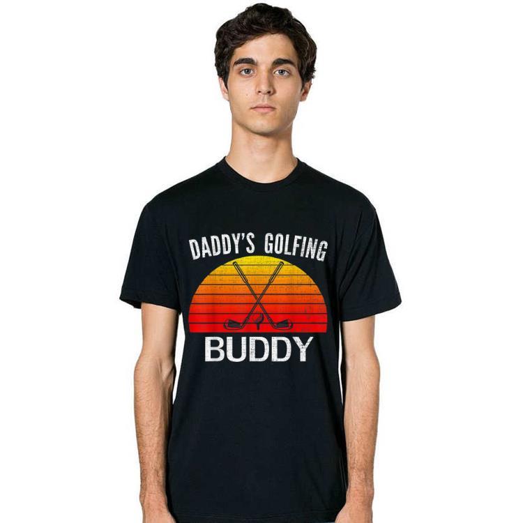 Retro Daddy's Golfing Buddy Father Day shirt