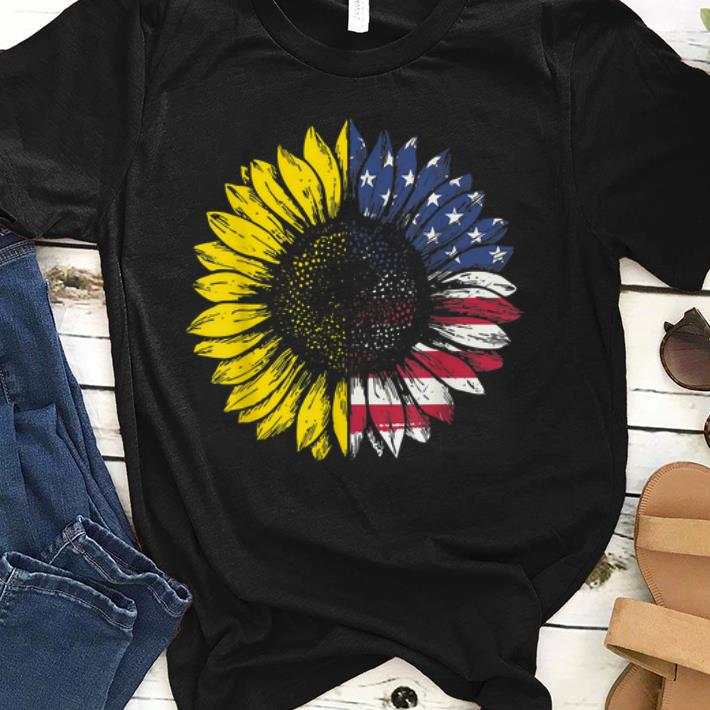 Sunflower American Flag Patriotic 4th Of July sjirt