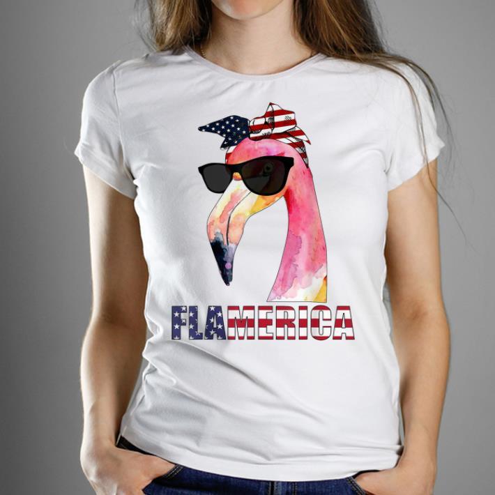 Top Flamerica Funny Flamingo 4th Of July shirt