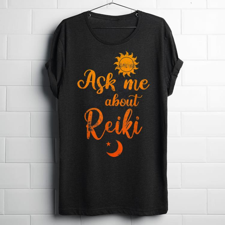 Top Sunflower Ask Me About Reiki Healing Energy shirt