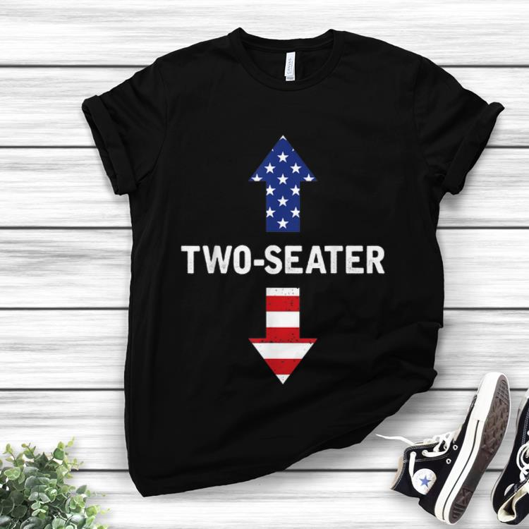 Two Seater Arrow 4th Of July American Flag shirt
