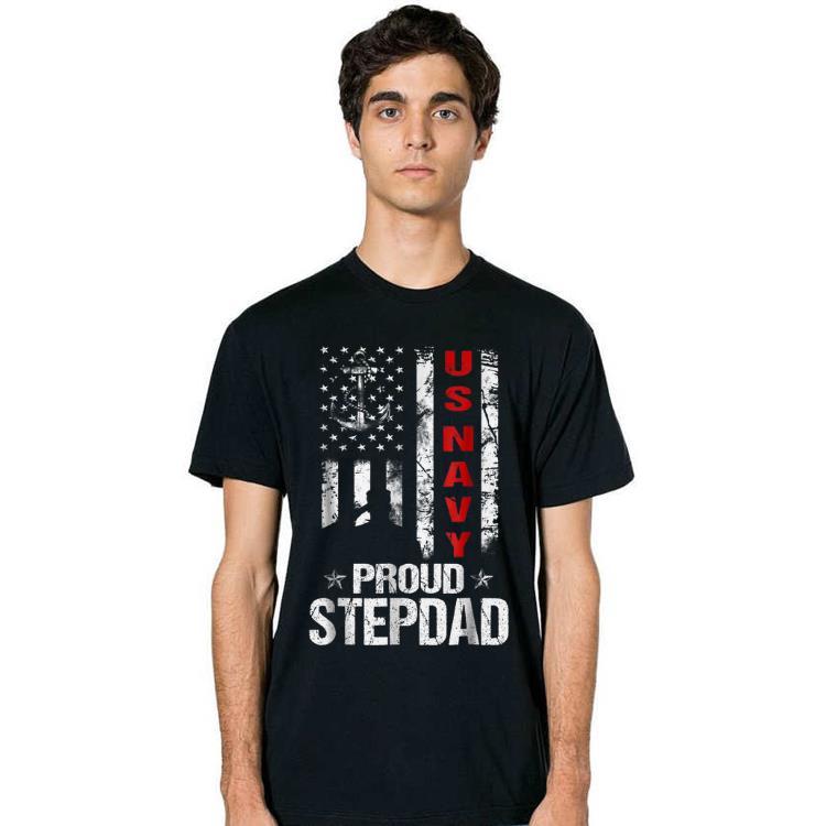 US Navy Proud Stepdad Veteran shirt