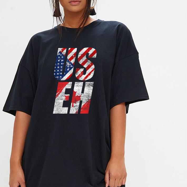 Useh Canadian Flag American Usa 4th Of July Canada shirt
