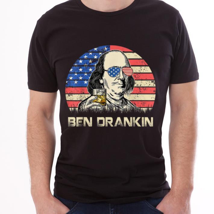 Vintage Ben Drankin American Flag 4th Of July shirt