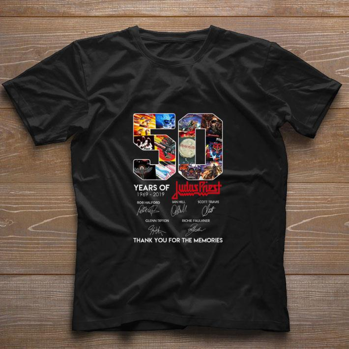 50 Years of Judas Priest signature thank you for the memories shirt