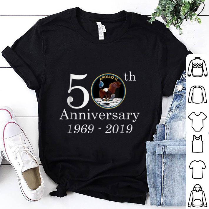 Awesome 50th Anniversary 1969 2019 Apollo 11 First Step On The Moon NASA Moon Landing shirt 1 - Awesome 50th Anniversary 1969-2019 Apollo 11 First Step On The Moon NASA Moon Landing shirt