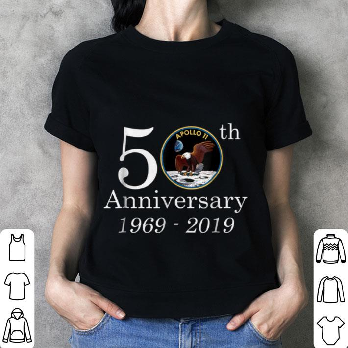 Awesome 50th Anniversary 1969-2019 Apollo 11 First Step On The Moon NASA Moon Landing shirt