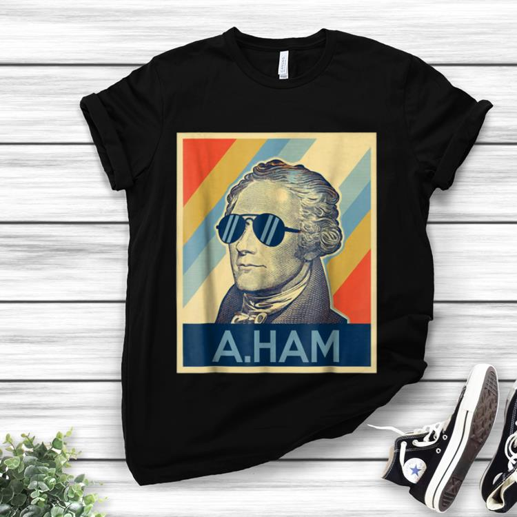 Awesome Alexander Hamilton Wearing Sunglass Retro shirt