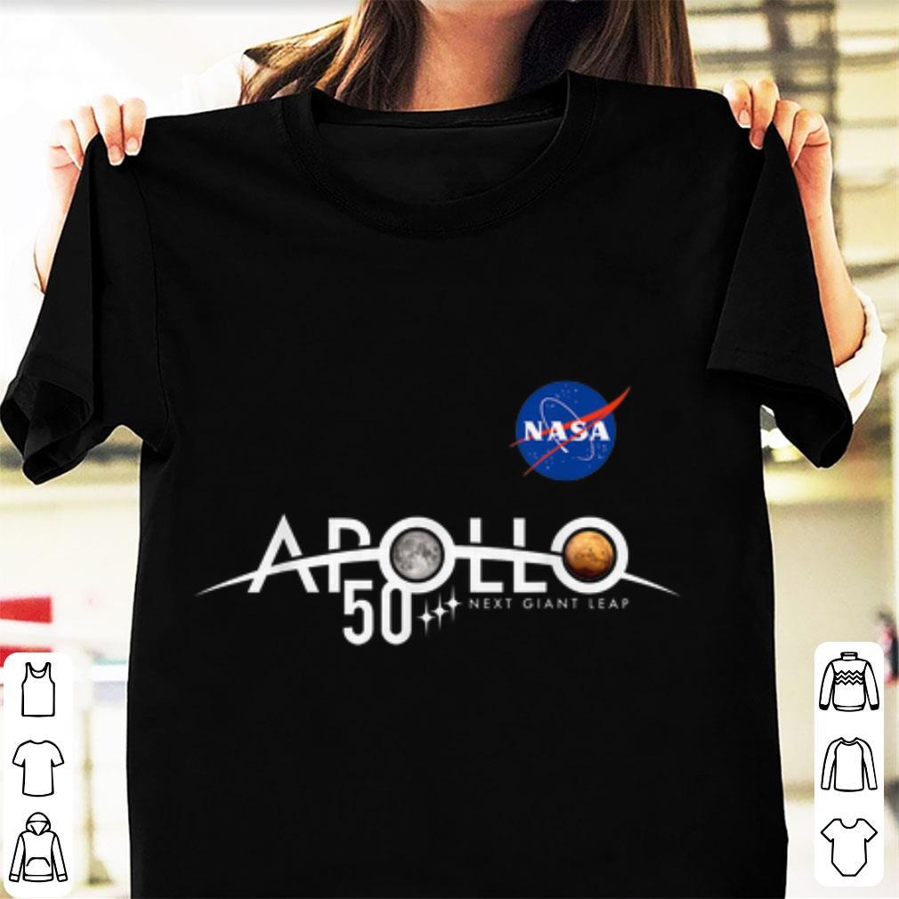 Awesome Apollo 11 50th Anniversary Logo Nasa Space Moon And Mars shirt