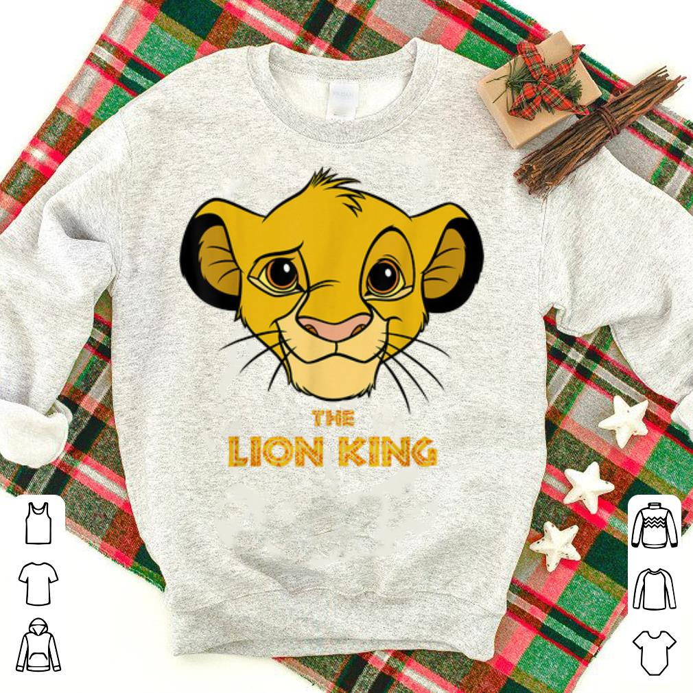 Awesome Disney Lion King Young Simba Head The King Is Smiling shirt