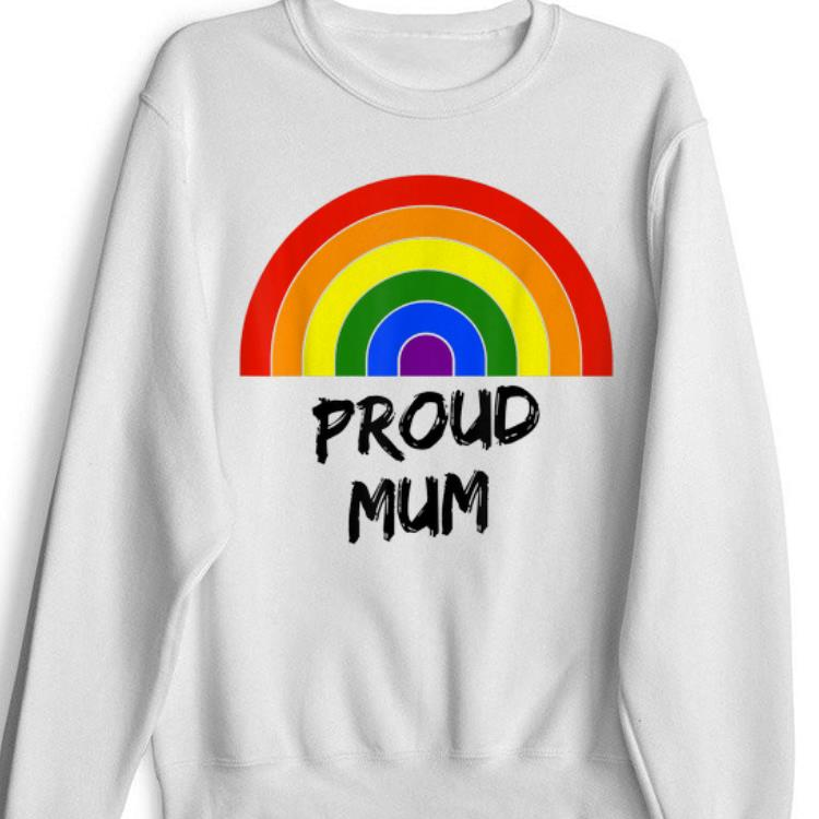 Awesome Proud Mum LGBT Gay Pride Rainbow Flag Colours shirt