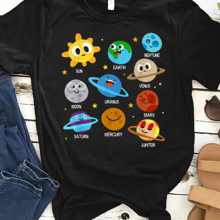 Awesome Solar System Planets Astronomy Space Planets Emotion shirt