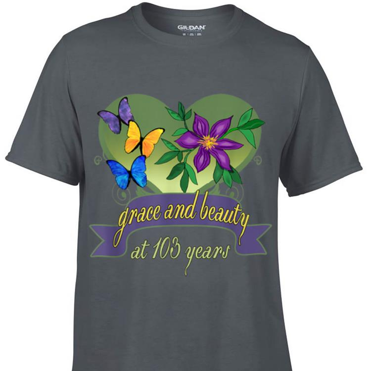 Grace and Beauty At 103 Years Flower sweater 1 - Grace and Beauty At 103 Years Flower sweater