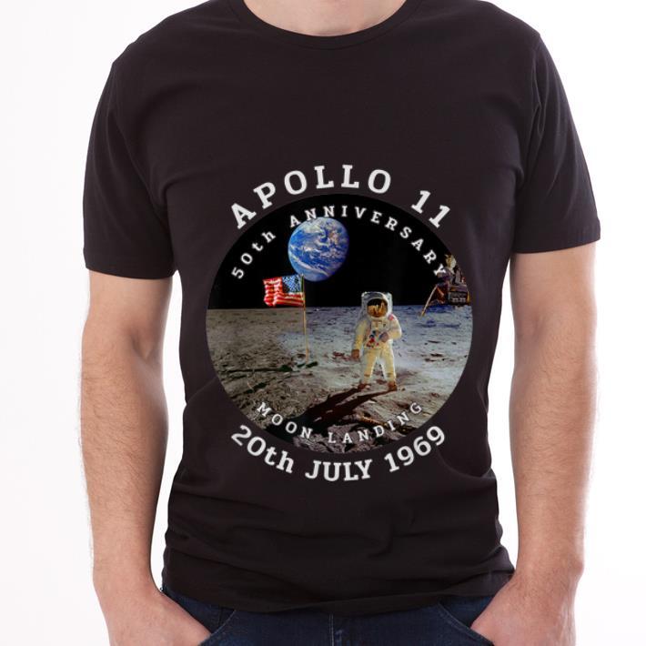 Hot Astronaut Apollo 11 50th Anniversary Moon Landing American Flag 20th July 1969 shirt
