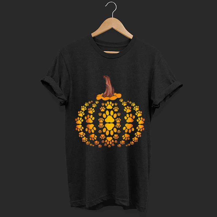 Hot Cat Dog Paw Hockey Halloween Pumpkin shirt