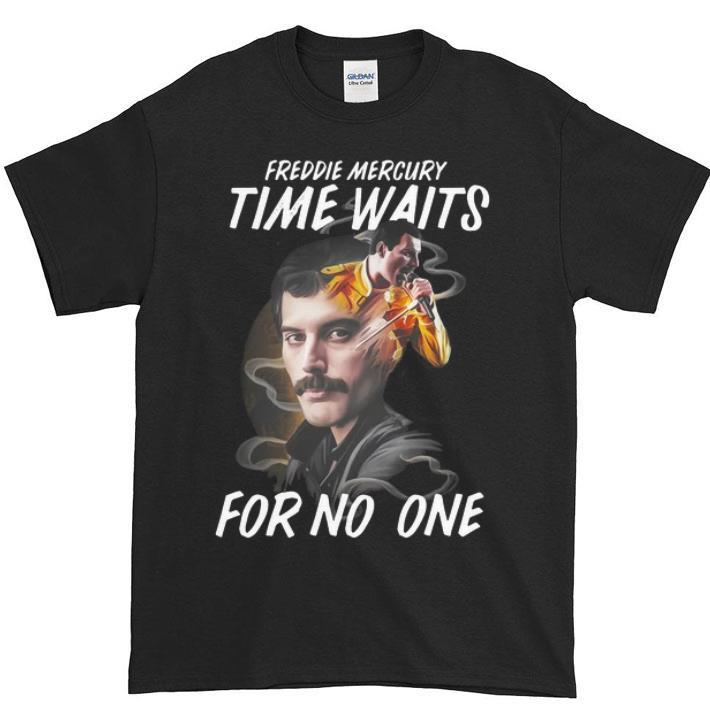 Hot Freddie Mercury time waits for no one Freddie Mercury shirt