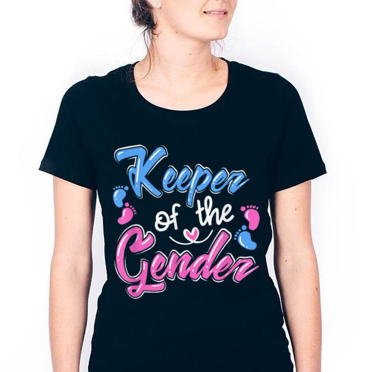 Hot Keeper Of The Gender Reveal Announcement shirt
