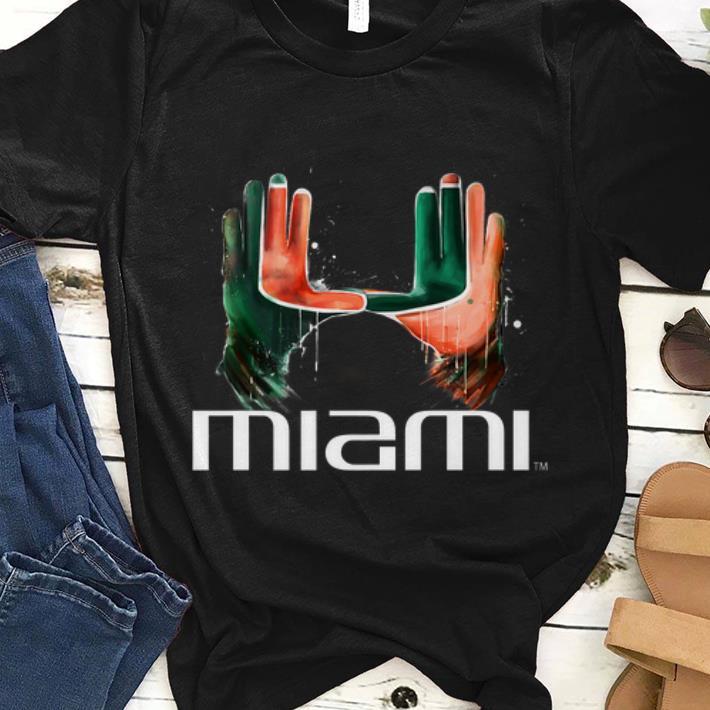 Hot The Hand Miami Hurricanes shirt
