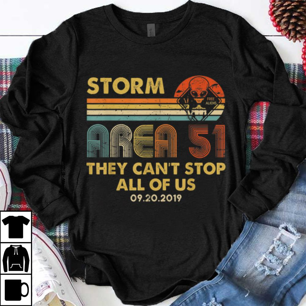 Hot trend Storm Area 51 Free Aliens they Can't Stop All Of Us Vintage sweater