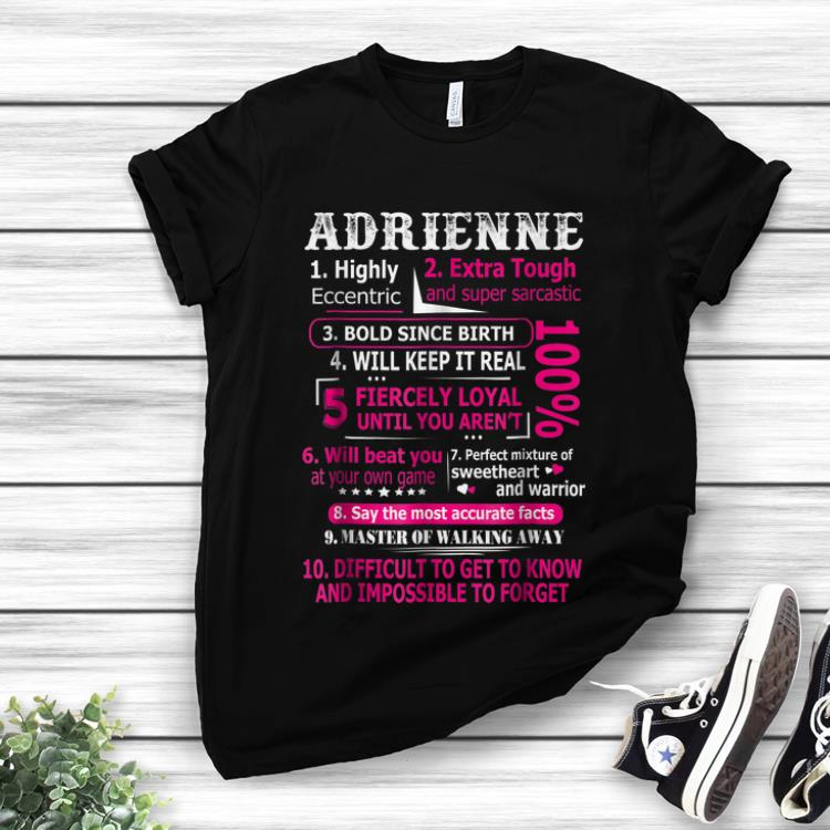 Lovely Adrienne Highly Eccentric 10 Facts shirt