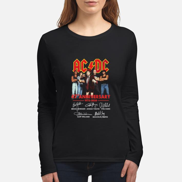 Nice ACDC 47th anniversary 1973-2020 signatures shirt